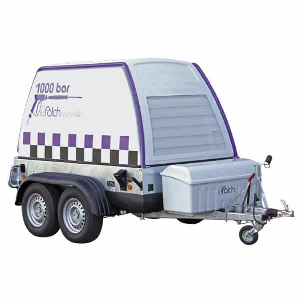 Vysokotlakový čistič na vozíku FALCH trail jet - 125 kW 1000 bar