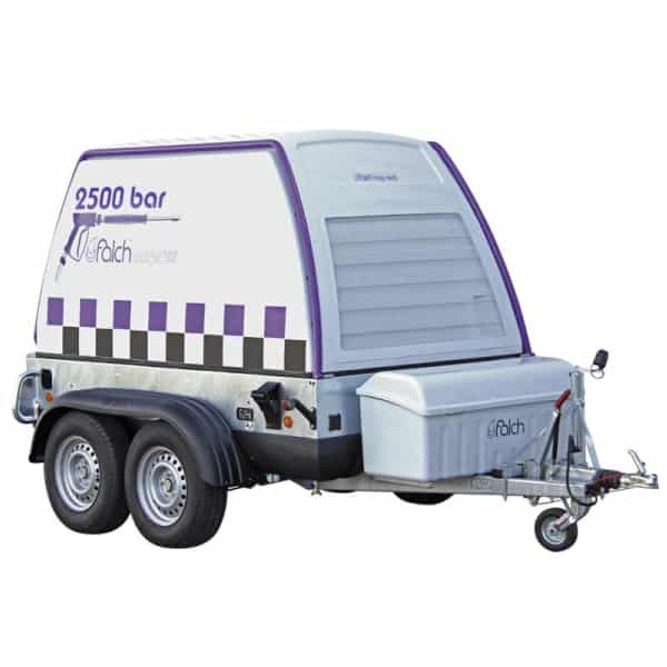 Vysokotlaký čistič na prívesnom vozíku - 2500bar